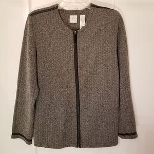 Emma James size large career jacket zip long sleev